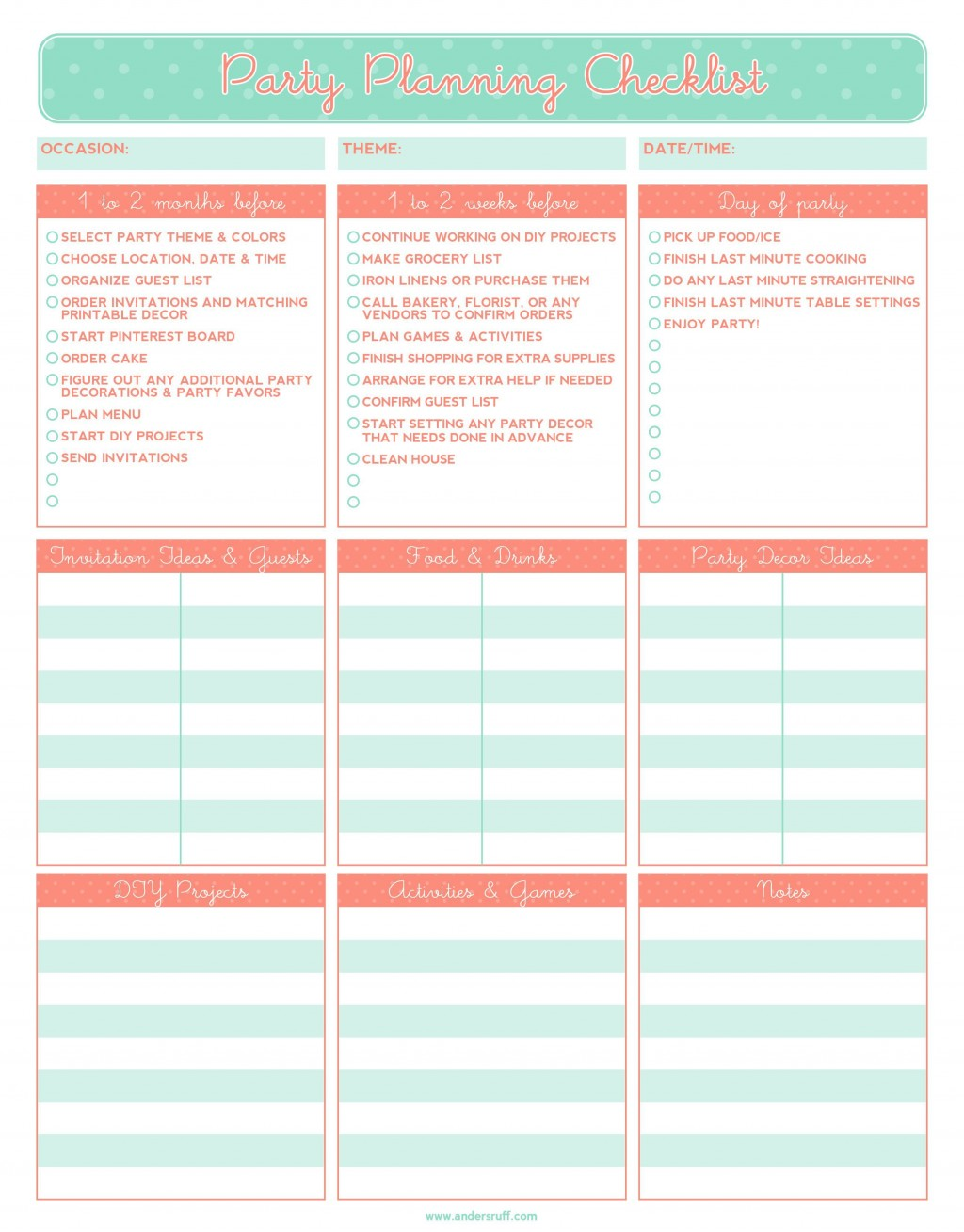 003 Exceptional Party Plan Checklist Template High Resolution  Planning Free Graduation BirthdayLarge