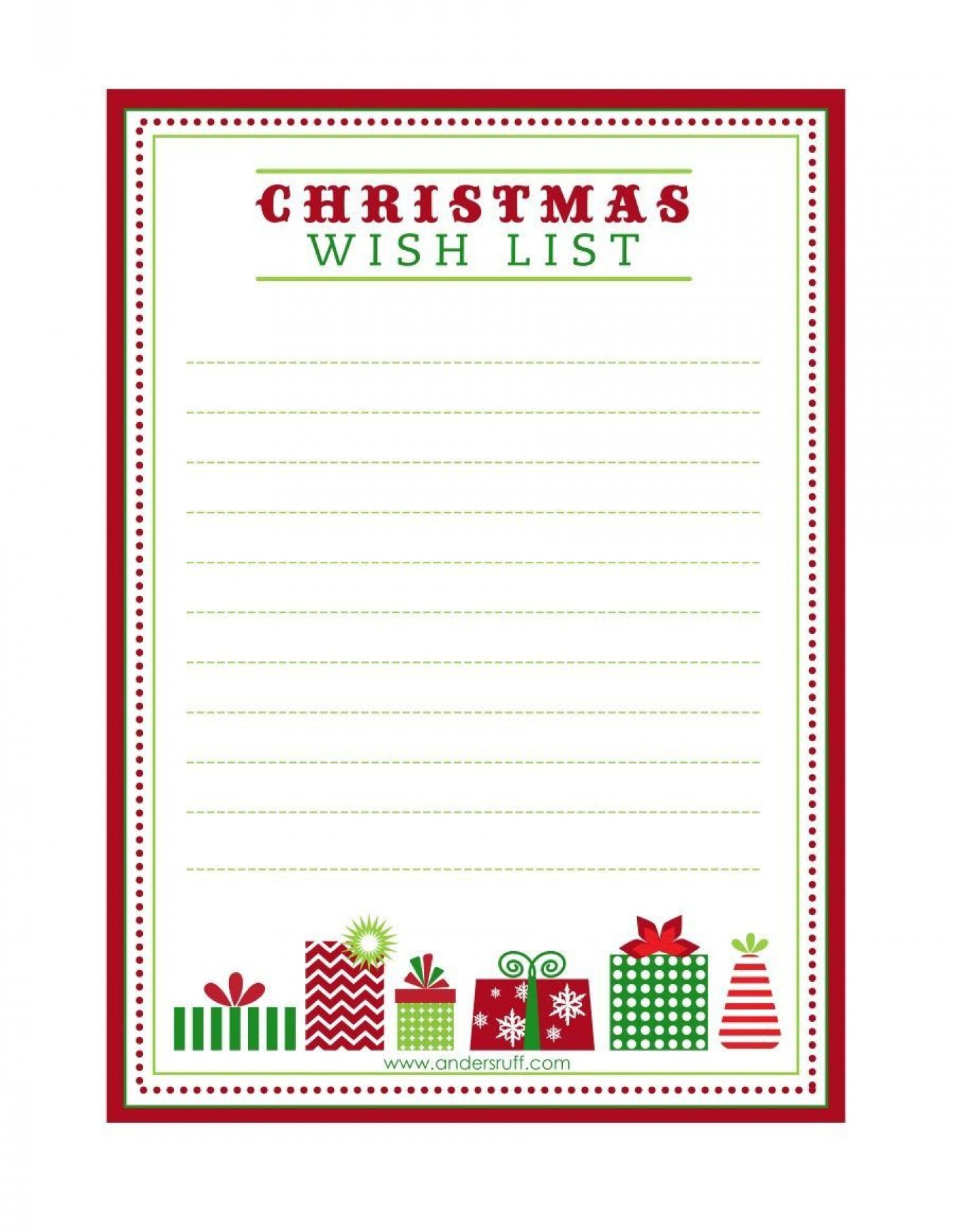 003 Exceptional Printable Wish List Template Highest Quality  Christma Free Pdf1400