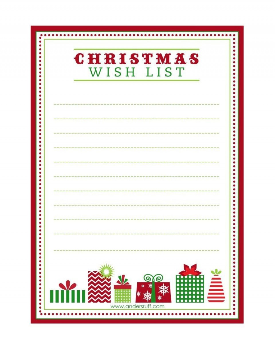 003 Exceptional Printable Wish List Template Highest Quality  Christma Free Pdf960