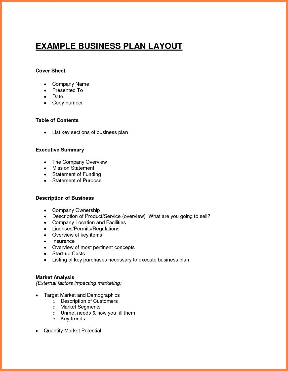 003 Exceptional Simple Busines Plan Template Free Picture  Word Document DownloadFull