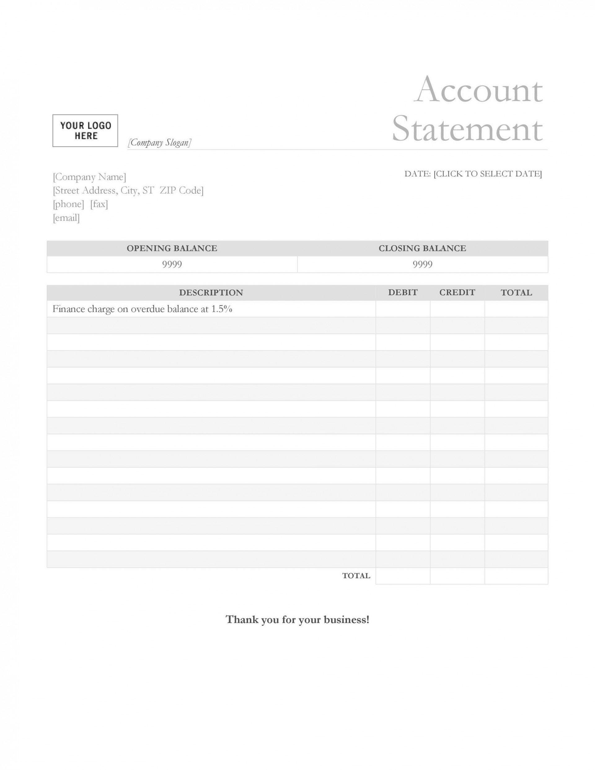 003 Exceptional Statement Of Account Template Photo  Singapore Excel Free Doc1920