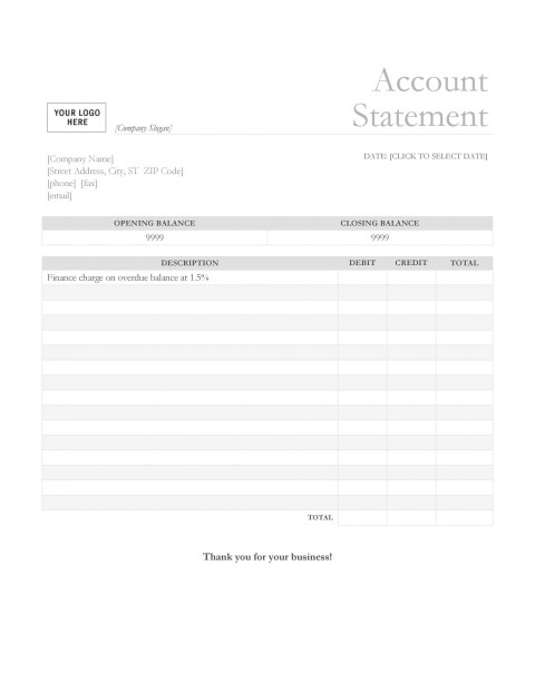 003 Exceptional Statement Of Account Template Photo  Uk Free Doc Customer480