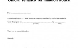 003 Exceptional Template Letter To Terminate Rental Agreement Design  End Lease Tenancy