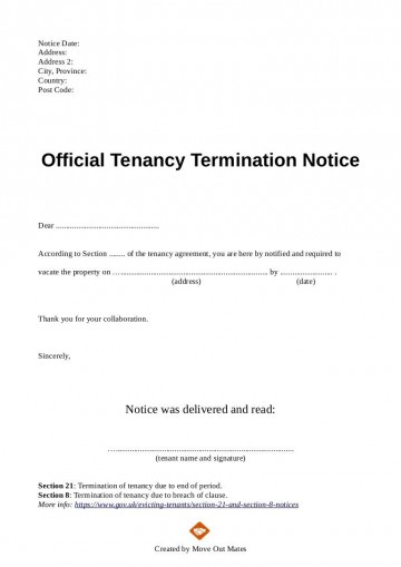 003 Exceptional Template Letter To Terminate Rental Agreement Design  End Tenancy For Landlord Ending360