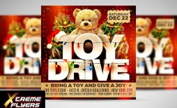 003 Exceptional Toy Drive Flyer Template Free Photo  Christma Download
