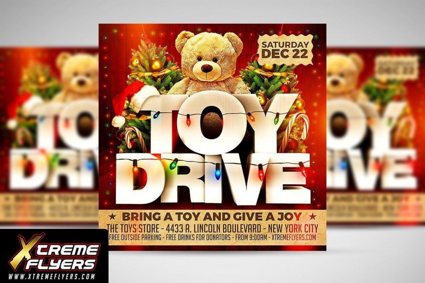 003 Exceptional Toy Drive Flyer Template Free Photo  Download Christma868