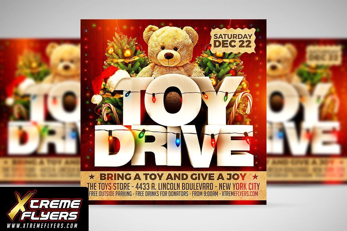 003 Exceptional Toy Drive Flyer Template Free Photo  Download ChristmaFull