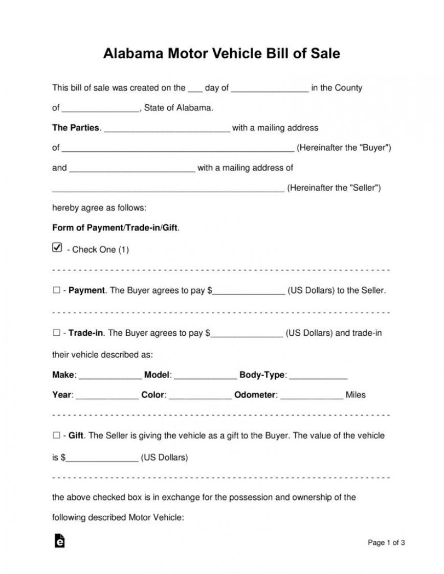 003 Fantastic Auto Bill Of Sale Template Design  Illinoi Motor Vehicle Form Texa Word Document