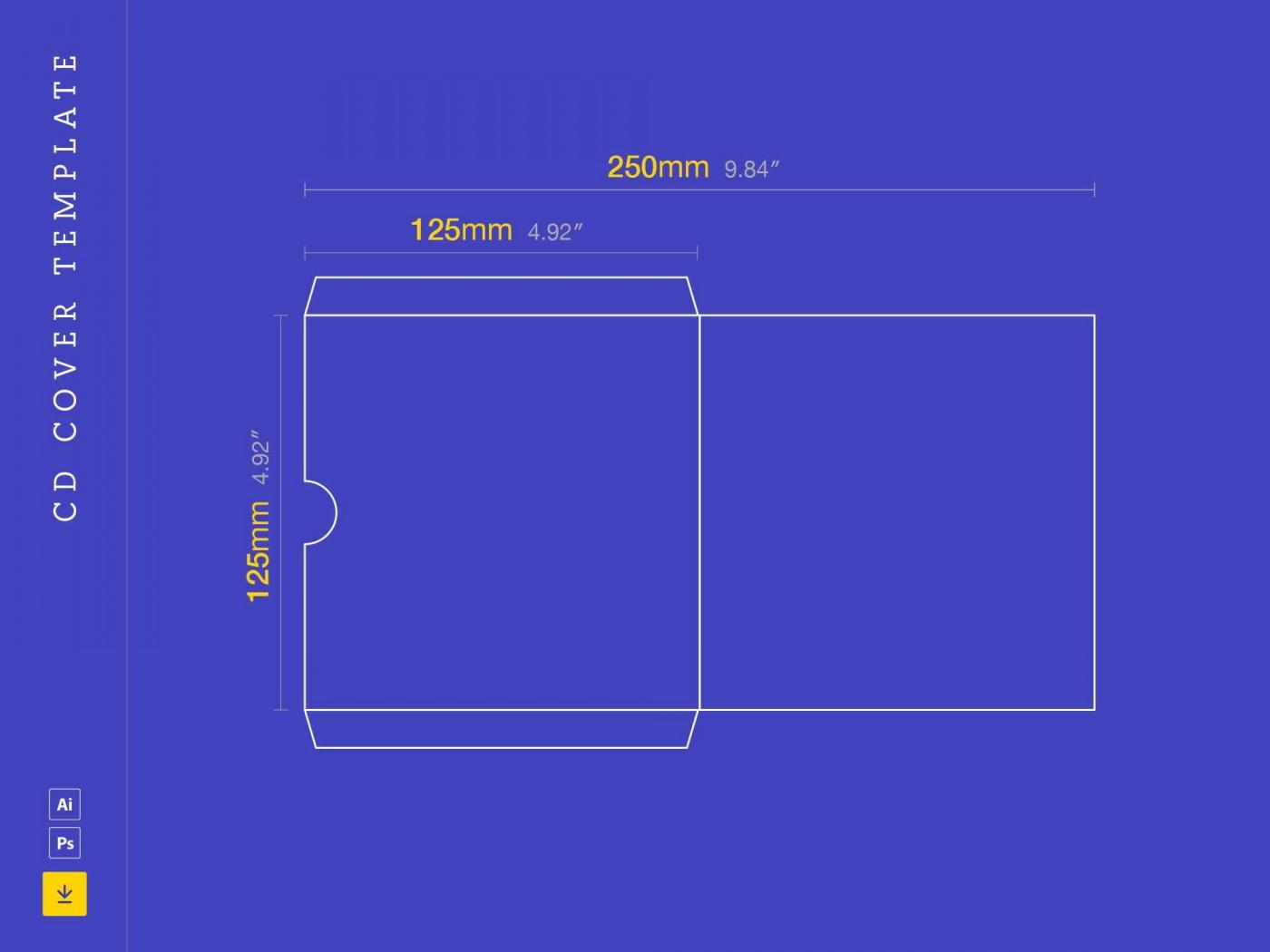 003 Fantastic Cd Cover Design Template Photoshop Sample  Label Psd Free1400