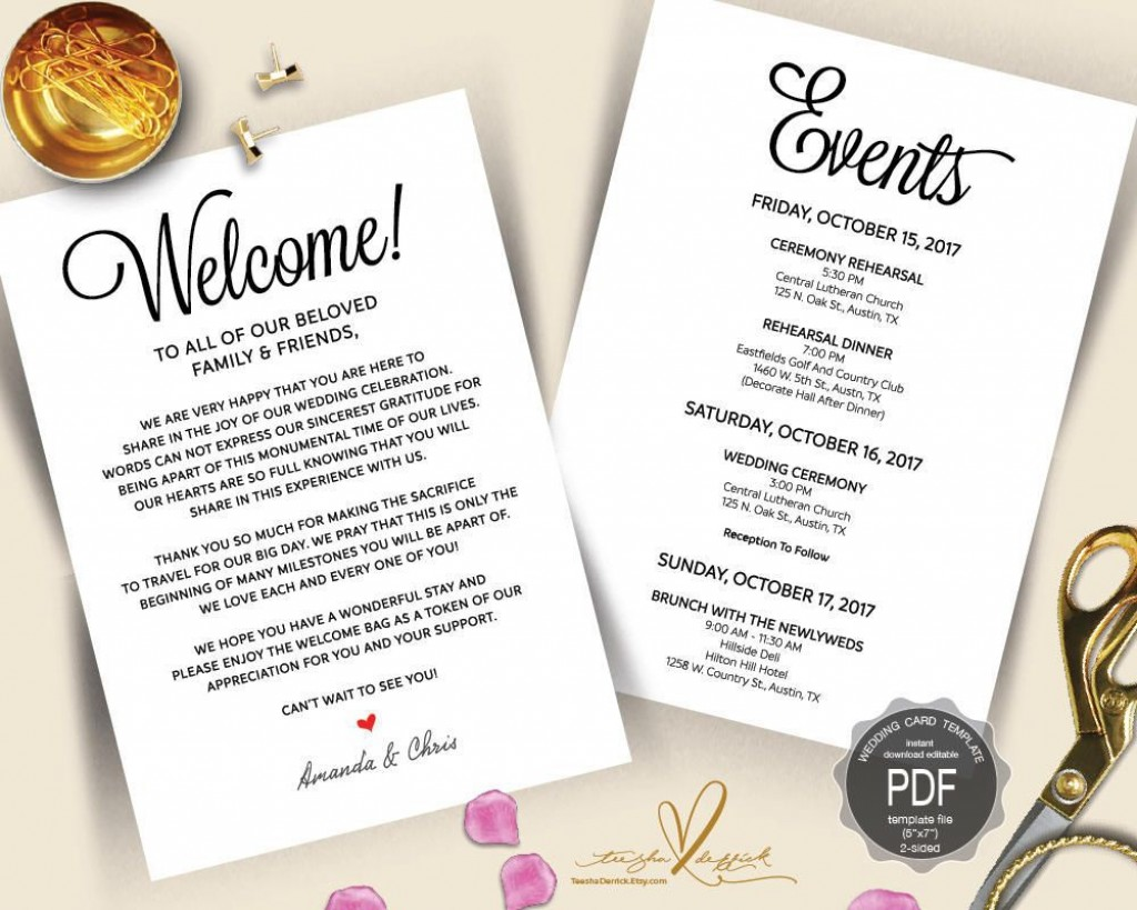 003 Fantastic Destination Wedding Itinerary Template Highest Clarity  Welcome Letter And Sample FreeLarge