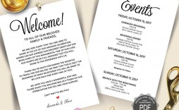 003 Fantastic Destination Wedding Itinerary Template Highest Clarity  Welcome Letter And Sample Free