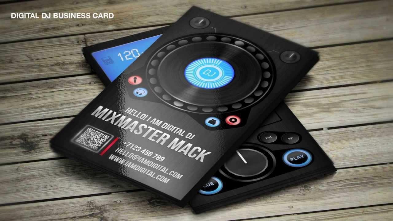 003 Fantastic Dj Busines Card Template Sample  Psd Free DownloadFull