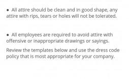 003 Fantastic Dres Code Policy Template Idea  Work Uk Sample Casual Memo