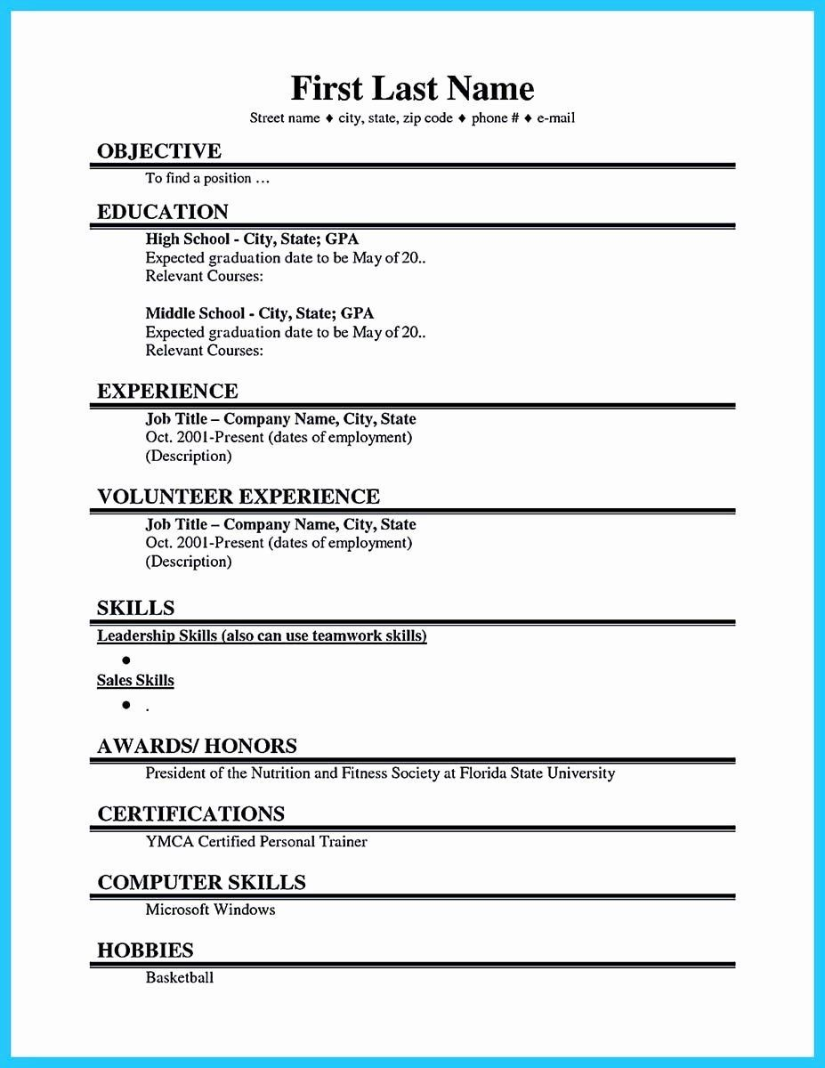003 Fantastic First Time Resume Template Highest Clarity  Job Seeker Teenage Sample For TeenagerFull