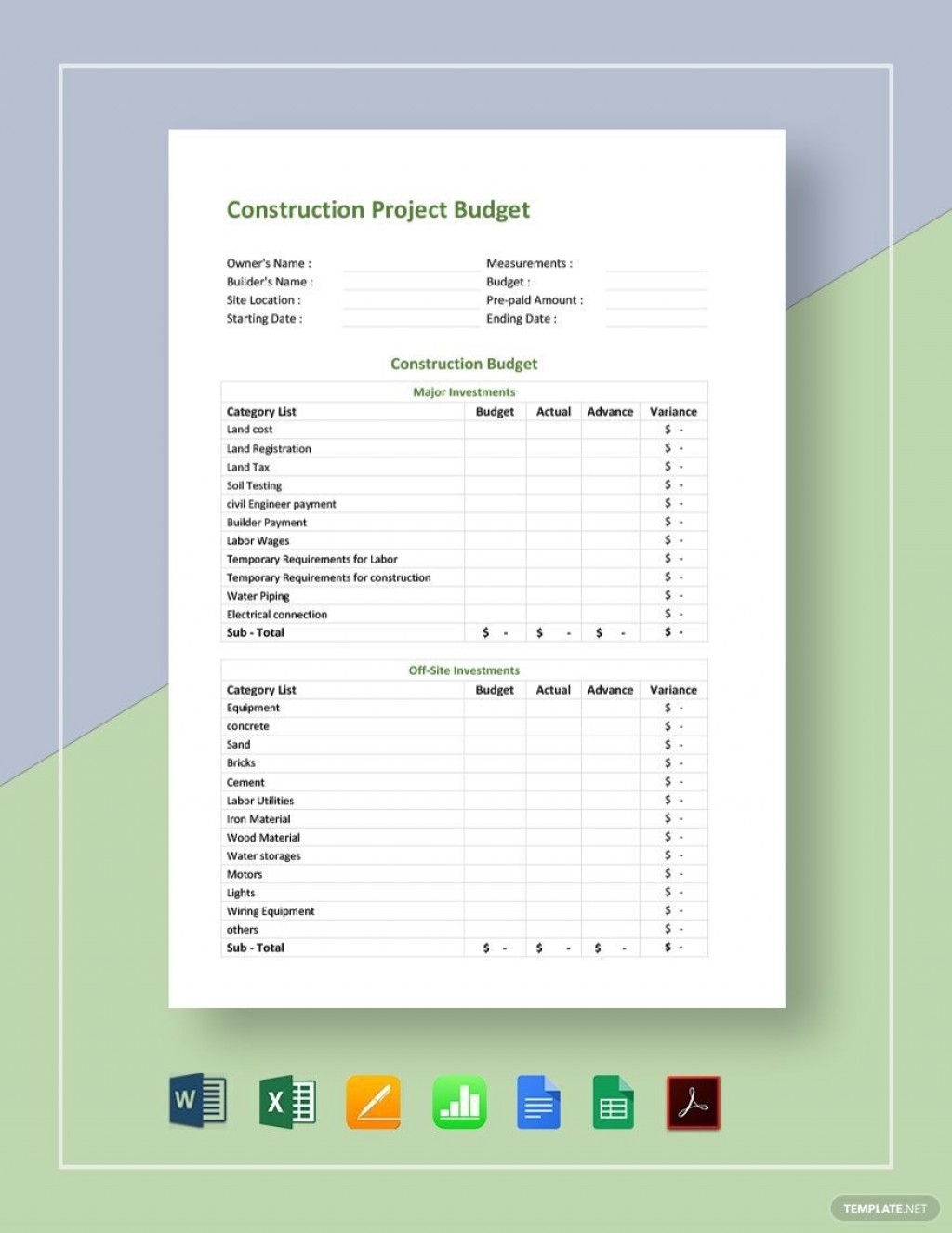 003 Fantastic Free Construction Estimate Template For Mac Picture Large