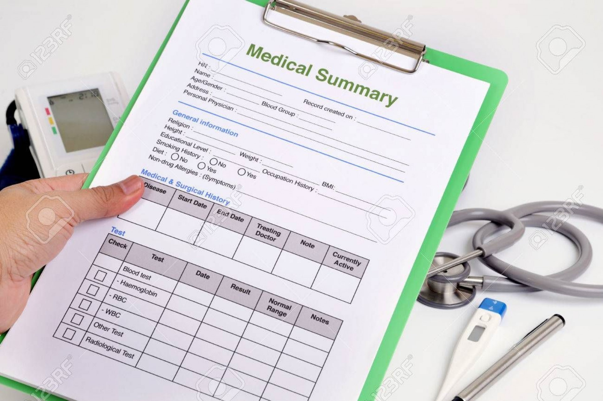 003 Fantastic Free Personal Medical History Template High Definition  Printable Form1920