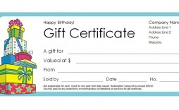 003 Fantastic Free Template For Gift Certificate Inspiration  Printable Birthday Mac In Word