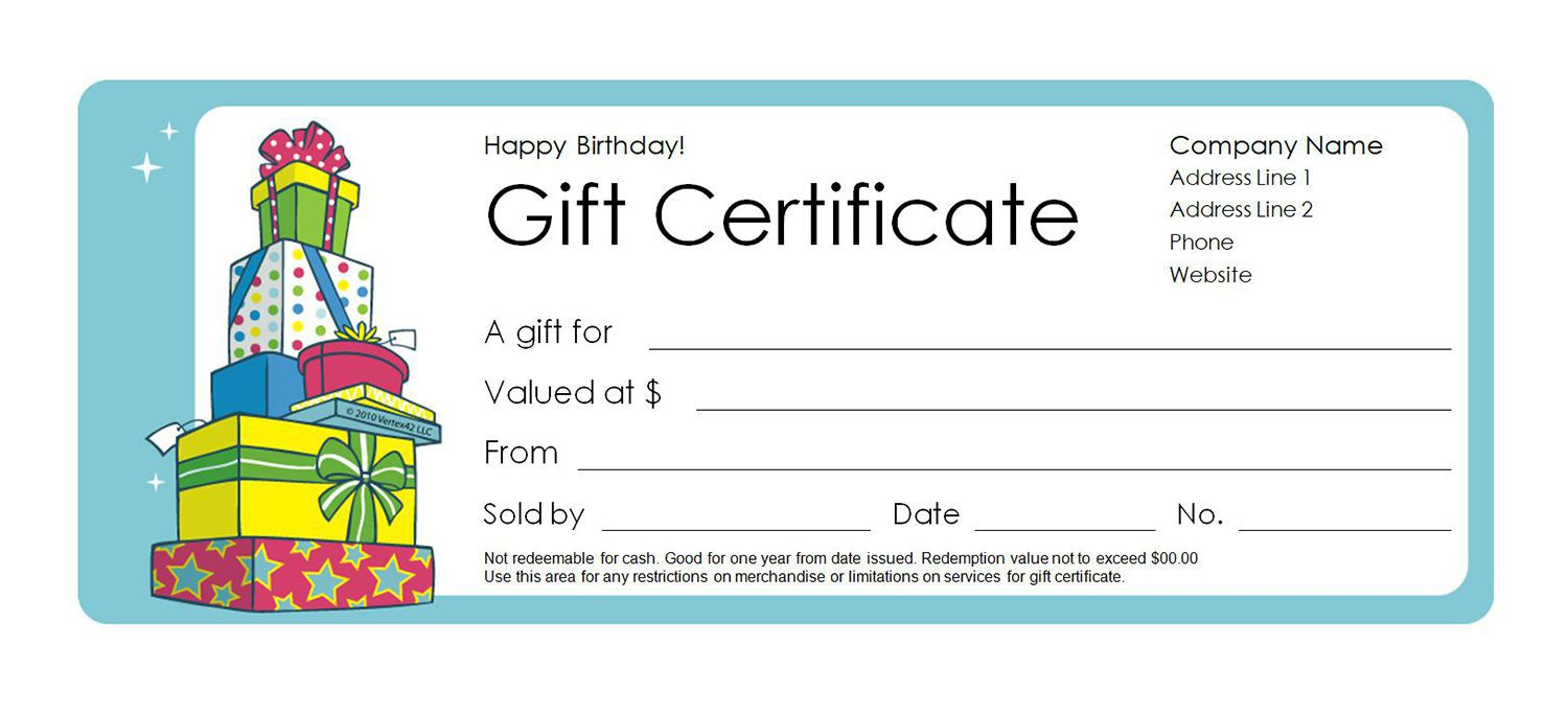 003 Fantastic Free Template For Gift Certificate Inspiration  Printable Birthday Mac In WordFull