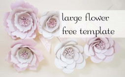 003 Fantastic Large Rose Paper Flower Template Free Highest Clarity