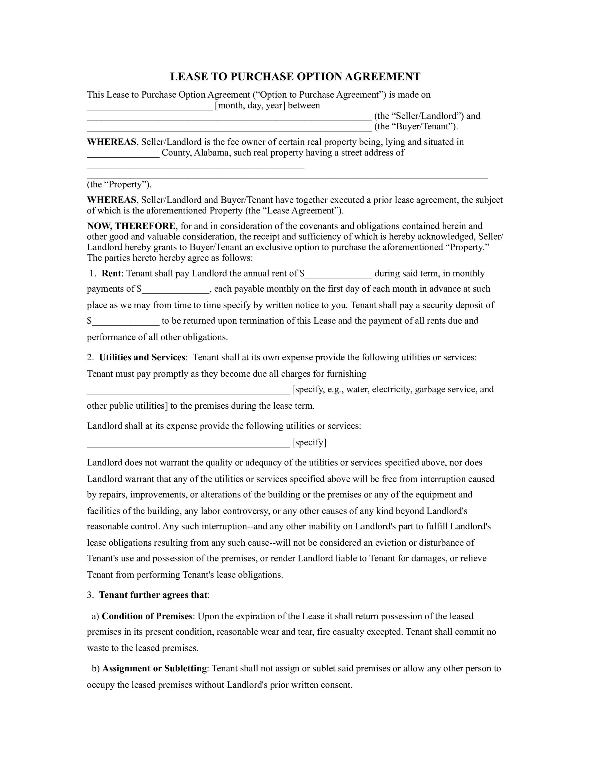 003 Fantastic Lease To Own Contract Template Example  Free Form Commercial Agreement Car1920