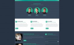 003 Fantastic One Page Website Html Template Free Download Example  Cs Simple With Responsive