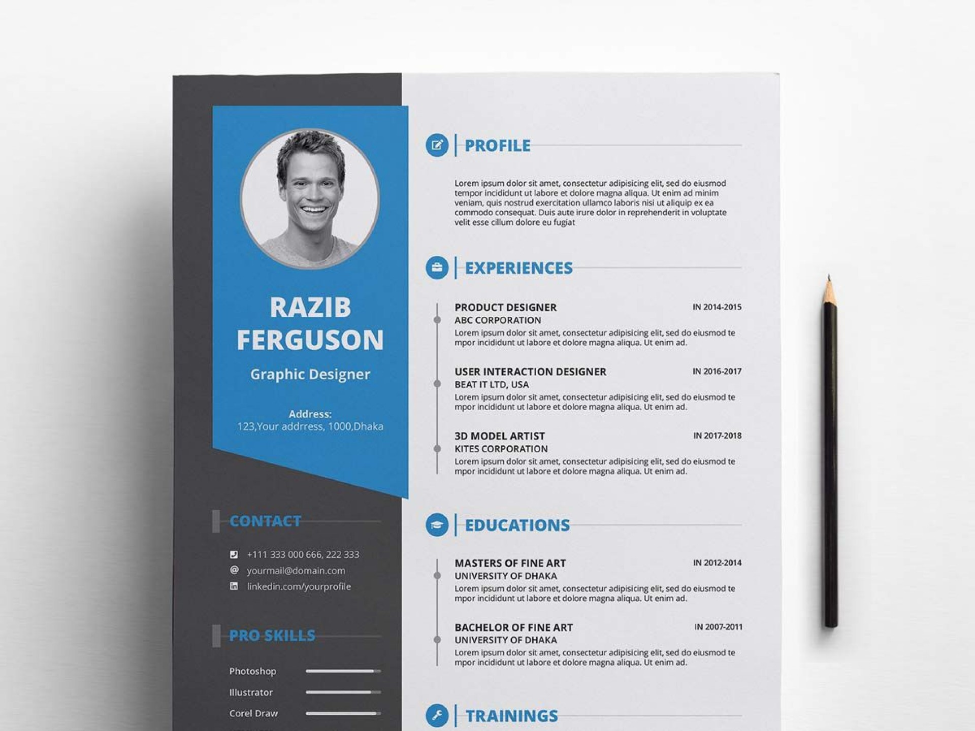 003 Fantastic Professional Cv Template Free 2019 High Resolution  Resume Download1920