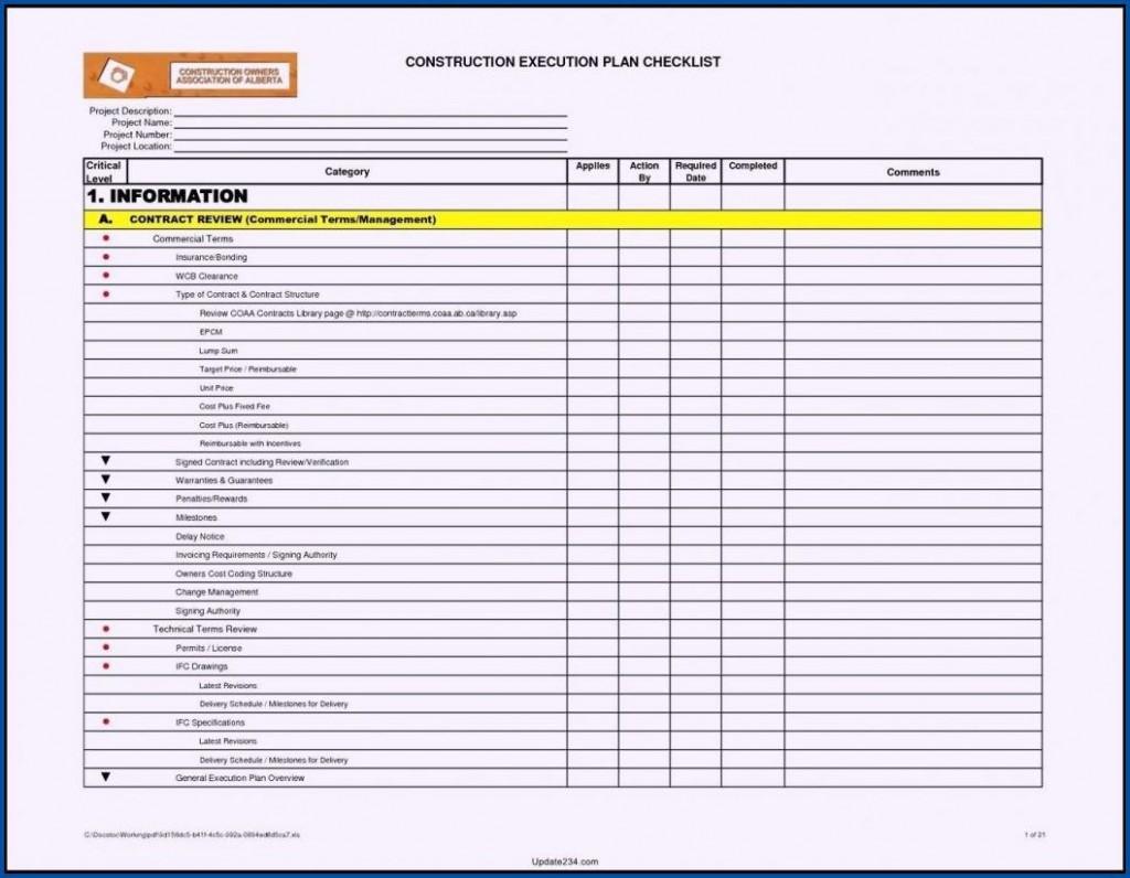 003 Fantastic Project Management Checklist Template High Def  Audit Excel PlanLarge