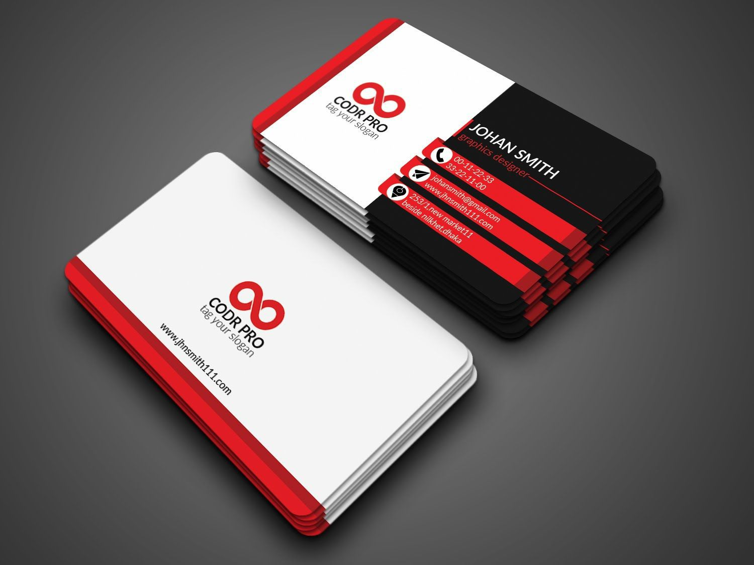 003 Fantastic Psd Busines Card Template Photo  Computer Free With BleedFull