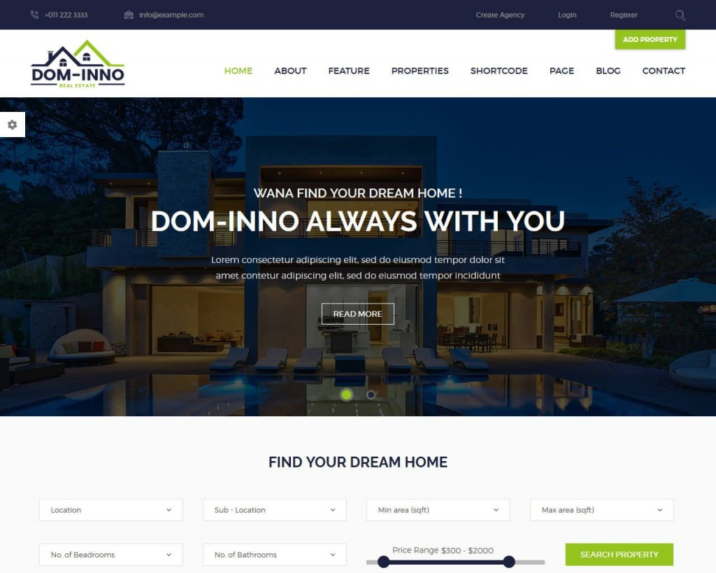 003 Fantastic Real Estate Website Template Concept  Templates Free Download Bootstrap 4 Listing WordpresLarge
