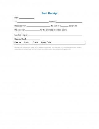003 Fantastic Rent Receipt Sample Doc High Resolution  Format Word India Docx Document320