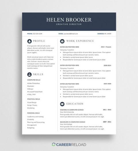 003 Fantastic Resume Template Word Free Sample  Download 2020 Doc480