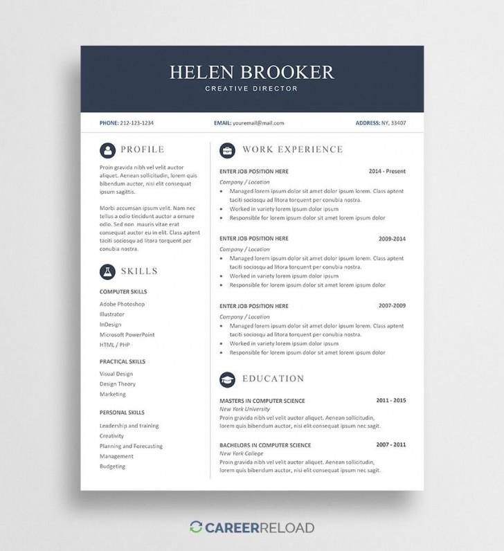 003 Fantastic Resume Template Word Free Sample  Download 2020 Doc728