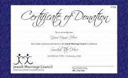 003 Fantastic Silent Auction Donation Certificate Template Idea