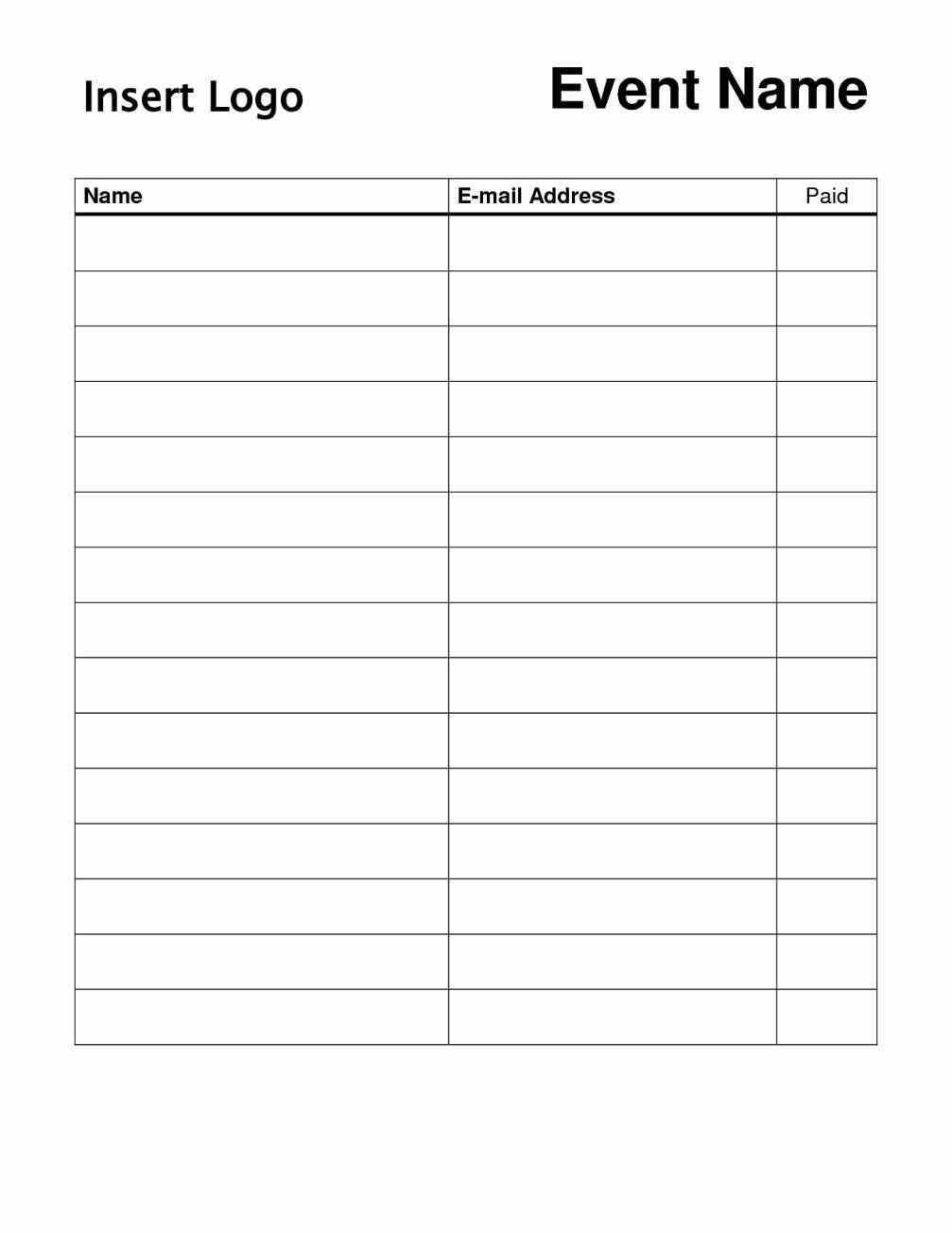 003 Fantastic Template For Sign Up Sheet Concept  Visitor In Excel Download OnFull