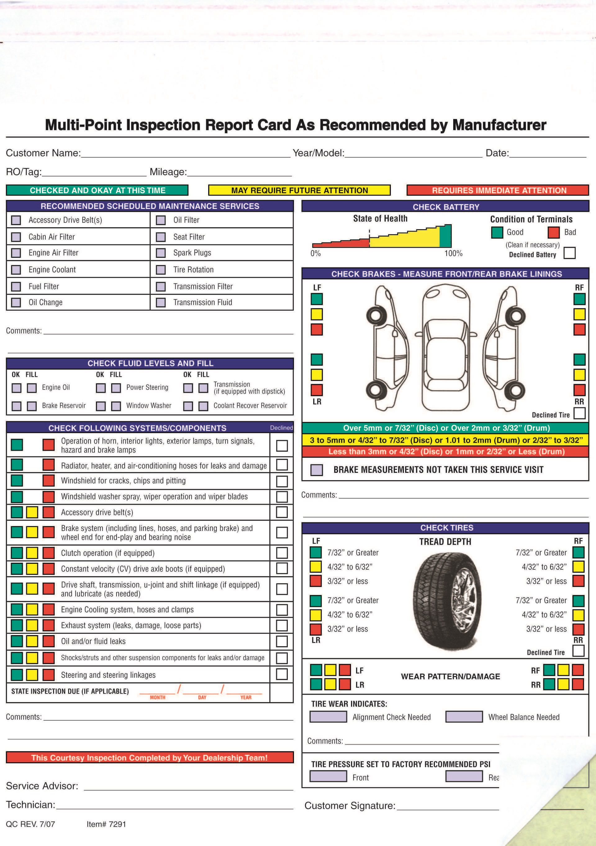 003 Fantastic Vehicle Inspection Form Template Free High Resolution Full