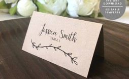 003 Fantastic Wedding Name Card Template Picture  Table Free Place Escort