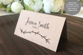 003 Fantastic Wedding Name Card Template Picture  Free Download Design Sticker Format