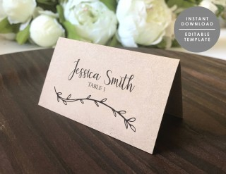003 Fantastic Wedding Name Card Template Picture  Free Download Design Sticker Format320