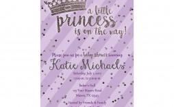 003 Fascinating Baby Shower Invitation Girl Purple Photo