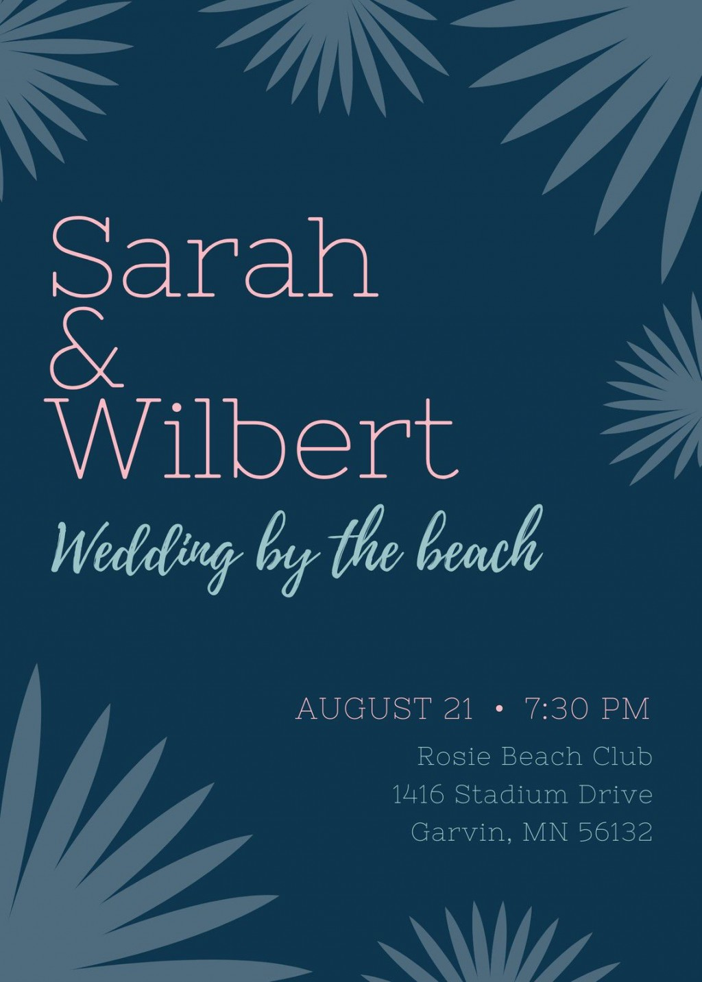 003 Fascinating Beach Wedding Invitation Template Example  Templates Free Download For WordLarge