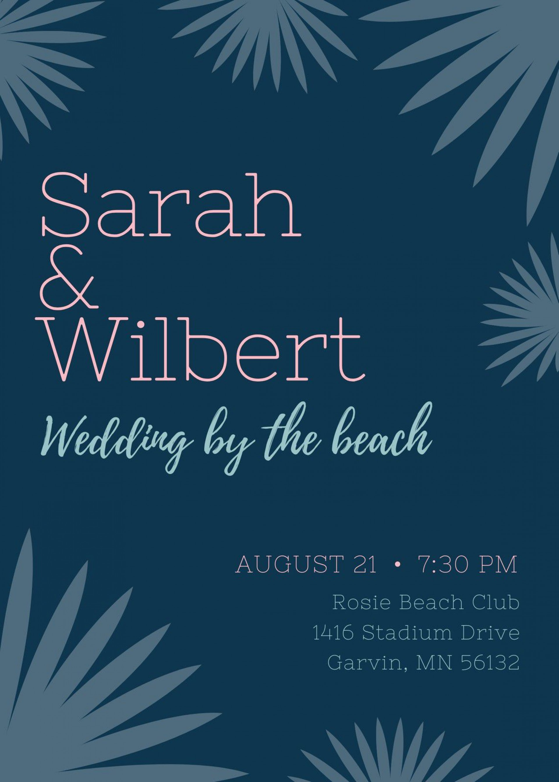 003 Fascinating Beach Wedding Invitation Template Example  Templates Free Download For Word1920