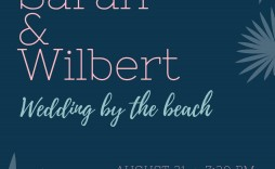 003 Fascinating Beach Wedding Invitation Template Example  Templates Free Download For Word