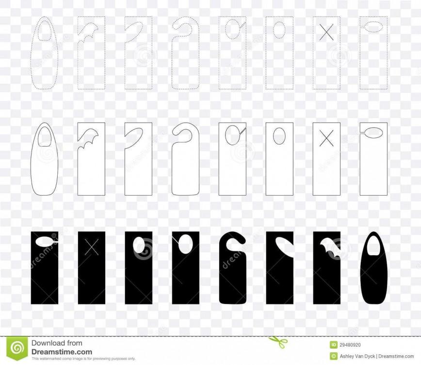 003 Fascinating Blank Door Hanger Template Highest Clarity  Free Printable Microsoft Word