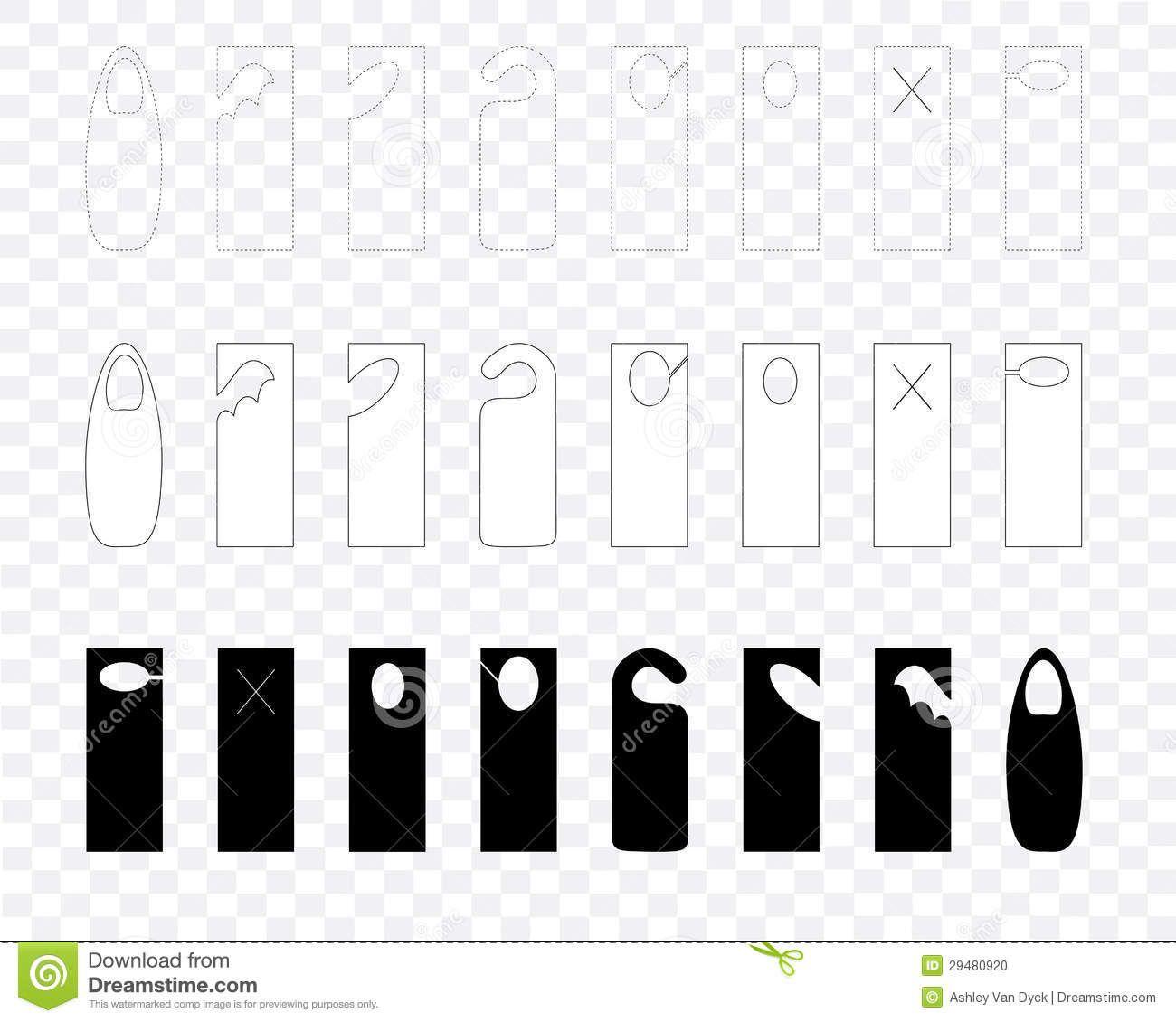 003 Fascinating Blank Door Hanger Template Highest Clarity  Free Printable Microsoft WordFull