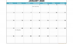 003 Fascinating Calendar 2020 Template Excel Photo  Monthly Free Uk In Format Download