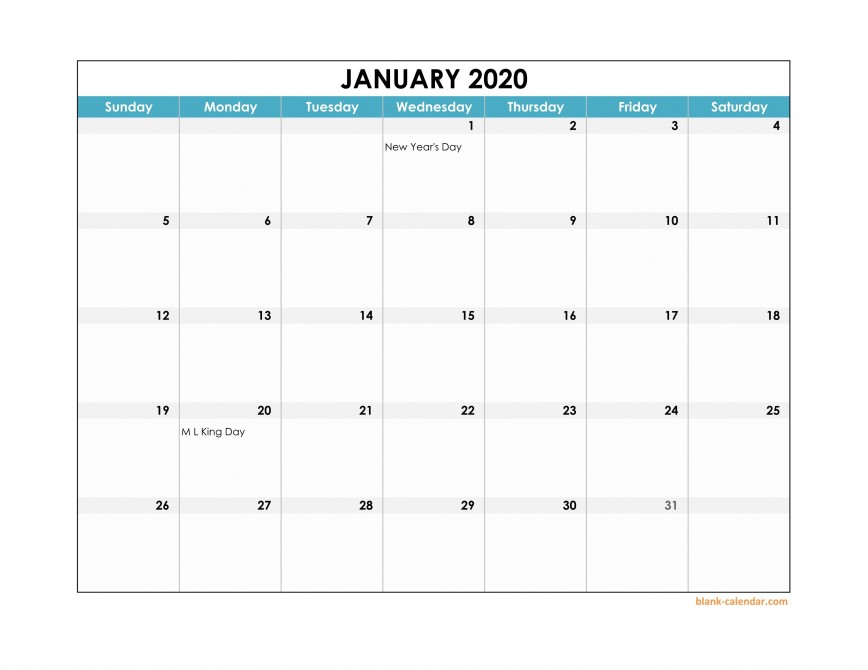 003 Fascinating Calendar 2020 Template Excel Photo  One Page Free Biweekly Payroll Format