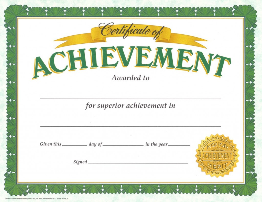 003 Fascinating Certificate Of Achievement Template Free Concept  Award Download WordLarge