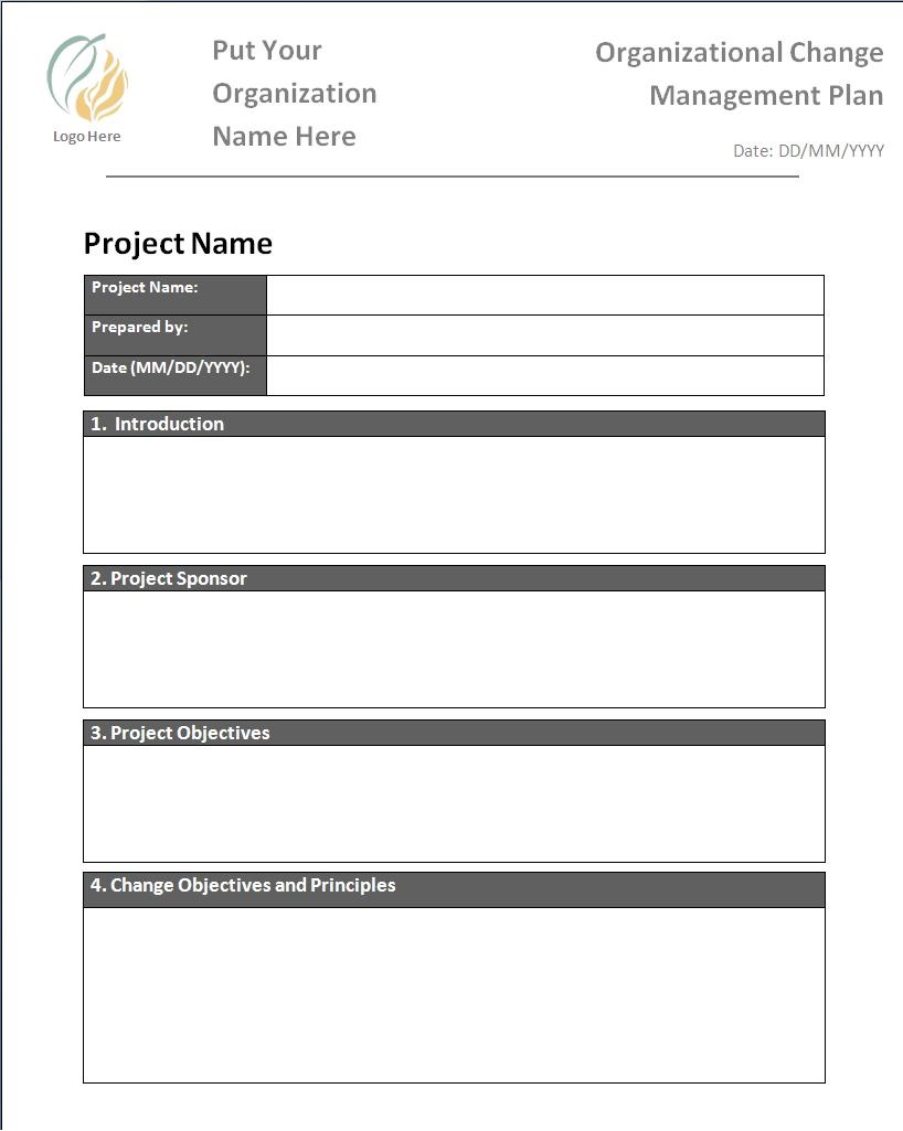 003 Fascinating Change Management Proces Template Inspiration Full