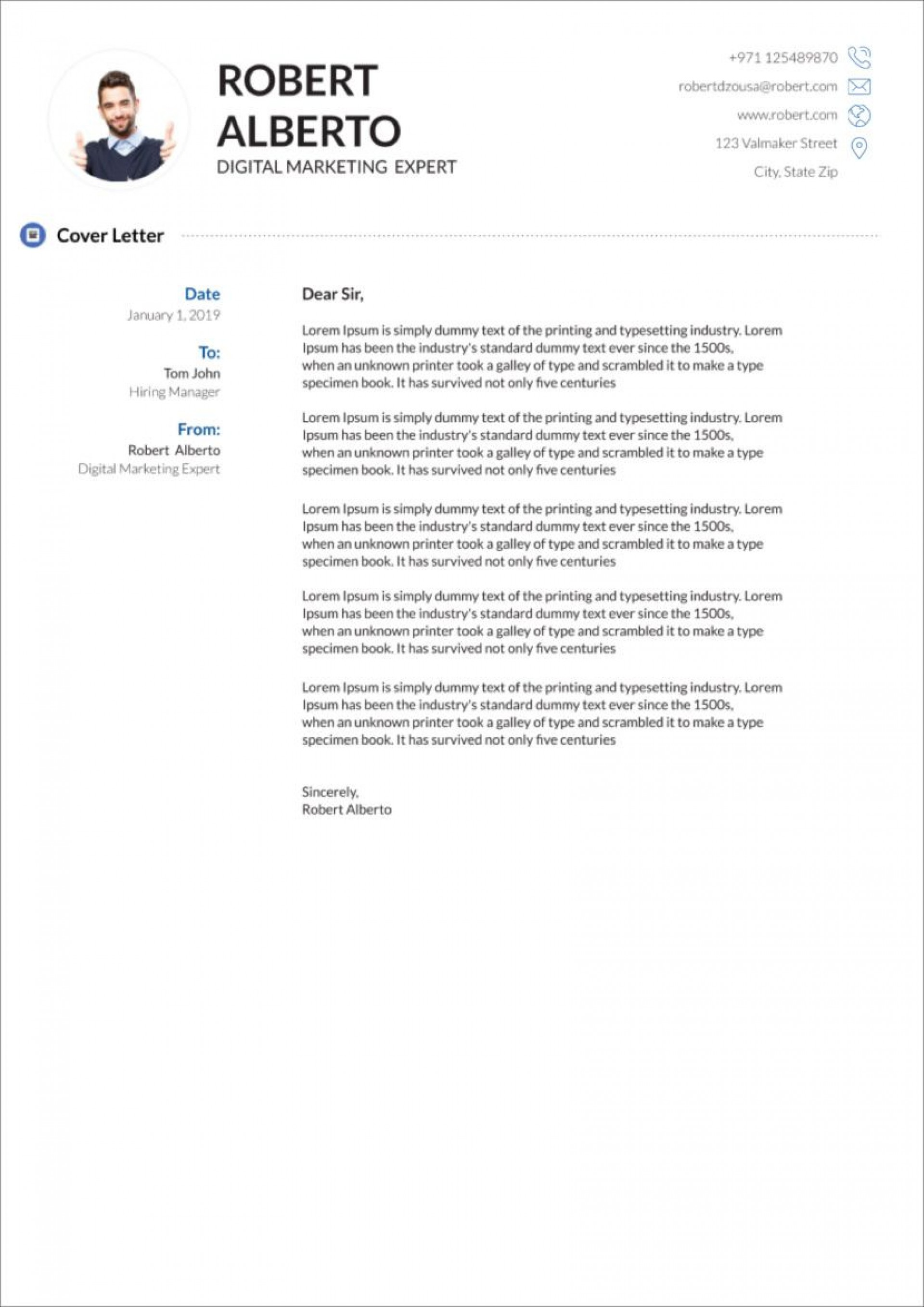 003 Fascinating Cover Letter Free Template Photo  Download Word Doc1920