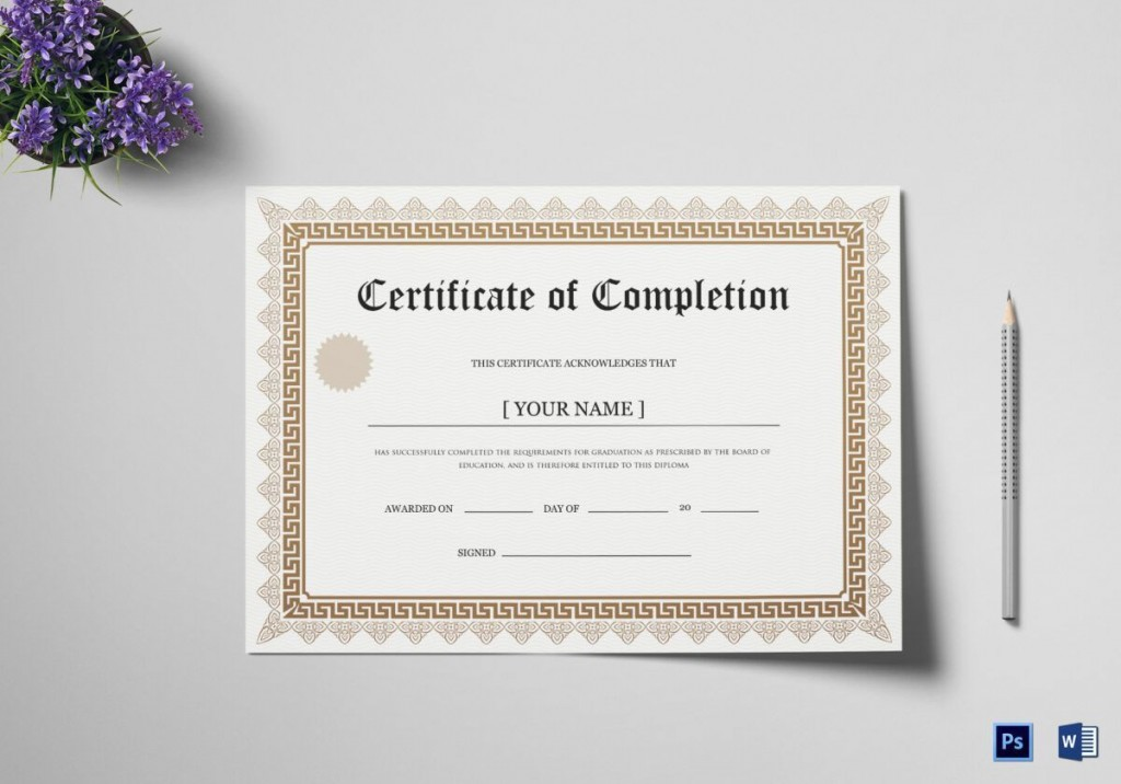 003 Fascinating Degree Certificate Template Word High Def Large